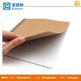 Carnet de notes à spirale de Brown emballage de la taille A4 de couverture faite sur commande de papier
