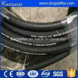 De flexibele Slang van de Brandstof Slang van de Draad van het Staal van 5/16 Duim de Spiraalvormige Hydraulische Rubber4sp