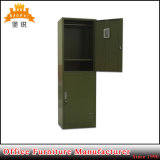 優秀な品質の軍の新式の2つのドアの緑の鋼鉄体操のロッカー