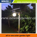 Tudo em uma lâmpada solar do jardim solar do diodo emissor de luz