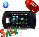 Bluetooth Wireless Pulse Oximeter com CE, Certificado-Telemedicine Color Display Rechargeable do FDA