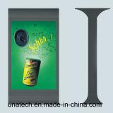 알루미늄 프레임 두루말기 게시판 옥외 태양 전지 LED 뒤 가벼운 상자를 광고하는 거리