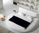 2016 베스트셀러 현대 우아한 디자인 특대 둥근 성숙한 가죽 침대 (HCM038)