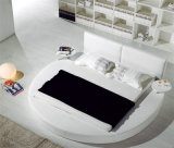 Best-Selling Modern Design Elegant King Size Round Adulto cama de couro (HCM038)