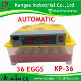 Incubateur élevé d'oeufs de poulet des prix raisonnables de certificat de la CE d'oeufs du taux 36 de hachure