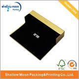 Caja de embalaje de papel de encargo de los vidrios del color del oro (QY150024)