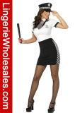Costume полисмена сексуального платья Halloween Patry женщин Checkered