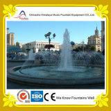 Круглый фонтан воды с соплами нержавеющей стали