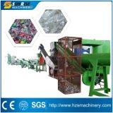 Plastica residua che ricicla riga di lavaggio