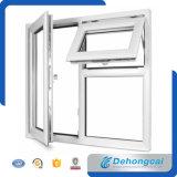 Ökonomisches praktisches UPVC/Belüftung-doppeltes ausgeglichenes glasig-glänzendes Plastikfenster