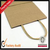 Crear el retículo impreso de los bolsos para requisitos particulares de la maneta de la bolsa de papel de Kraft que hace compras