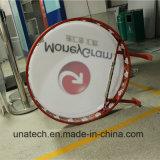 둥근 진공 또는 Sqaure 옥외 LED Signage 전시 가벼운 상자