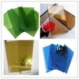 색을 칠한 플로트 유리, 착색된 회색, 녹색, 파랑, 청동색 장식적인 플로트 유리