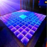 Diodo Emissor de Luz Colorido Dance Floor 3D do Túnel do Tempo
