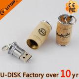 O flash maioria por atacado do presente conduz a vara de bambu de madeira do USB do giro do cartão
