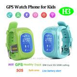 Multilingue Enfants GPS Tracker Visionner avec Position Triple (H3)