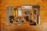 Woodworkign оборудует маркировку Veritas и измеряя набор