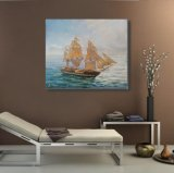 Pintura al óleo de la lona del barco de vela para la decoración de la pared