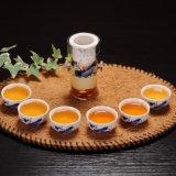 中国様式のフィルター茶ボールの陶磁器のティーセットが付いているガラスティーカップ