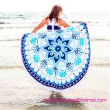 Tovagliolo 100% di spiaggia rotondo del cerchio del cotone del commercio all'ingrosso con l'alta qualità