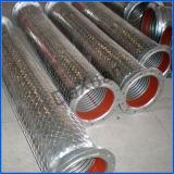 Tubo acanalado inoxidable de 3 metales del extremo de cuerda de rosca masculina
