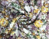 織布の工場からの完全な花の印刷されたビスコース染められたファブリック