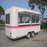 移動式ピザ食糧カートの移動式食糧カートによって揚げられているアイスクリームの販売のカート