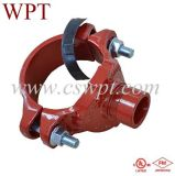 Cast duttile Iron Grooved Fittings Grooved Mechanical Tee con UL&FM
