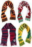 100%のアクリルの昇進によって編まれるフットボールのスカーフ
