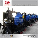 bomba de agua diesel 8-16inch para el uso de la explotación minera con el acoplado de cuatro ruedas