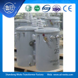 Trasformatore di distribuzione montato palo a bagno d'olio standard di monofase 10kV dell'ANSI