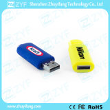 Multicolor Sliding Plastic USB Flash Drive com logotipo (ZYF1812)