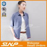 OEMの製造業者の女性の高品質のボタン前部衣服