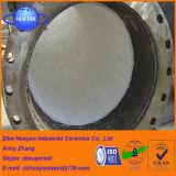 Le mattonelle di ceramica dell'allumina di resistenza all'usura 92% hanno allineato il tubo d'acciaio fatto dalla Cina