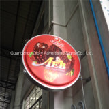 Publicidade Round Wall LED Light Box Sign