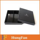 Boîte-cadeau de papier de luxe de noir fait sur commande de logo/cadre de empaquetage/cadre de papier