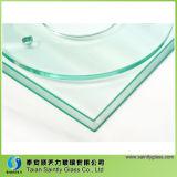 Vidro Tempered de vidro da etapa da iluminação do baixo preço com forma redonda e do retângulo