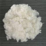 Fibra de grampo de poliéster regenerada Flocos de animal de estimação em fibra branca / poliéster