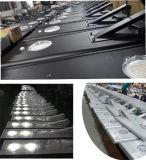 le pouvoir de détecteur de mouvement de batterie au lithium de 12V 20W 30W a intégré tous dans un réverbère solaire de DEL