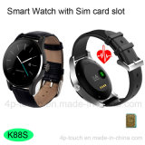 Forma redondo impermeable reloj teléfono inteligente con Bluetooth 4.0 (K88S)