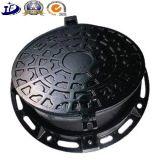 Carcaça tampa de câmara de visita ferro Ductile/cinzento de Qt500-7 do ferro da areia do OEM