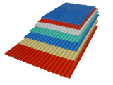 Strato d'acciaio del tetto di colore con il tipo di T ed ondulato