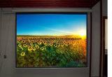 80 pouces écran électrique de projecteur d'écran de projection de 84 pouces