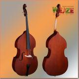 Полностью твердый Handmade краснокоричневый двойной бас