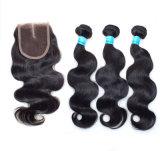 6Aペルーのバージンの毛まっすぐな3bundles焦茶#2の薄茶の#4バージンのペルーの毛の安い人間の毛髪の拡張もつれ無し