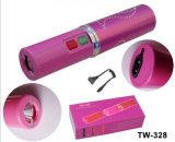 Aluminiumlegierung betäuben Gewehr-Taschenlampen-Schocker für Dame-Selbstschutz (TW-328)