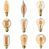 Dimmable Vintage LED Filament Bulb Golden Tint Retro Lampe