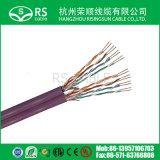 Пропуск испытания двуустки кабеля LAN 24AWG сети Cat5e UTP