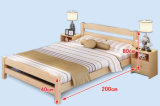 Camas dobro modernas da cama de madeira contínua (M-X2227)