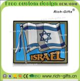 Bandierina ecologica personalizzata dell'Israele del ricordo dei magneti del frigorifero della decorazione promozionale dei regali (RC-IL)